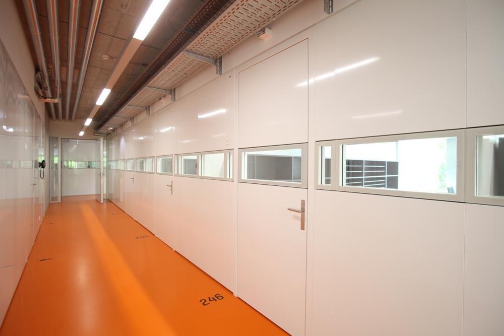 Innenausbau Büro, Glasbuero, Glastuer, Glaswände