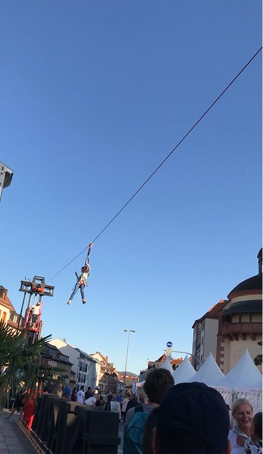 StaplerCup Finale 2019, Aschaffenburg, Flyin´Forks, Stapler Seilrutsche
