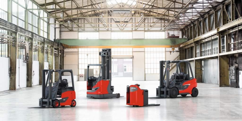 Das Produktportfolio an Flurförderzeugen von Linde Material Handling